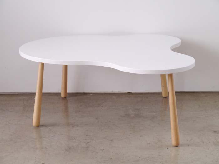【CURU/クル】 センターテーブル Lサイズ ローテーブル クル リビングテーブル ホワイト(代引不可)【送料無料】