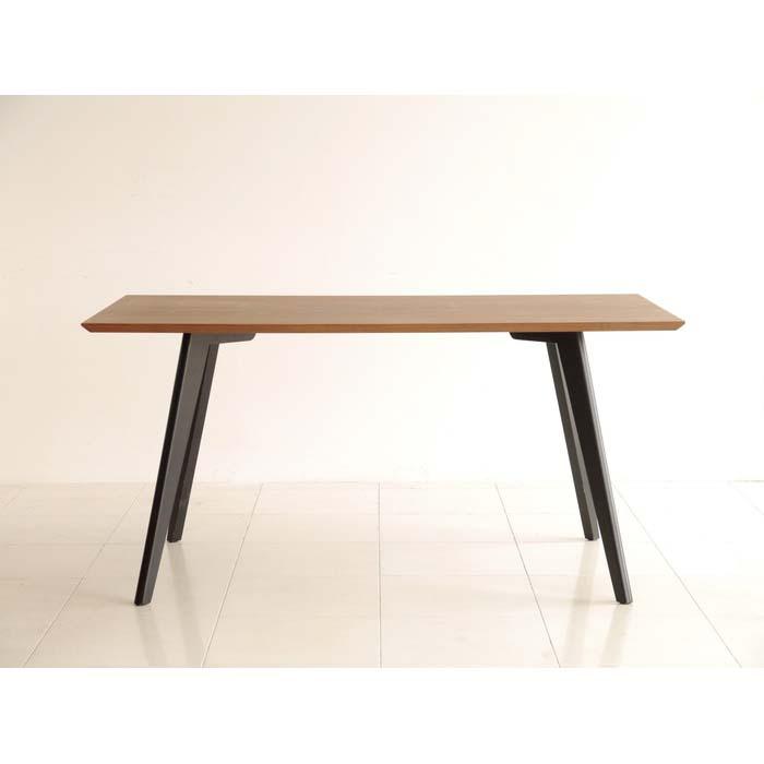 【FLUSS/フルス】 150ダイニングテーブル ダイニングテーブル カフェテーブル ウォールナット モダン 木製 おしゃれ カフェ (代引不可)【送料無料】