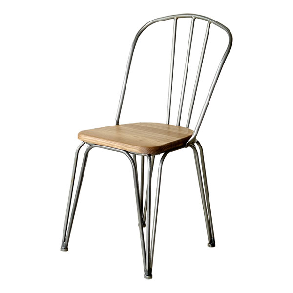 【1290】 テーブルチェア スタッキング アイアン ダイニング リチェア イス 椅子 食卓椅子 チェア 食卓チェア スチールチェア(代引不可)【送料無料】【int_d11】