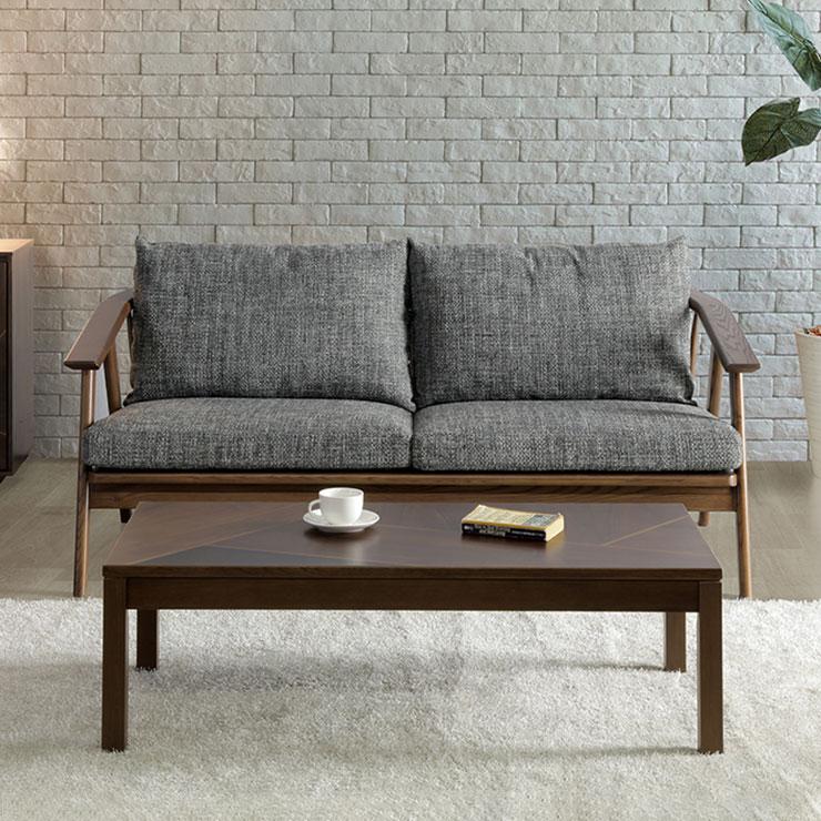 ソファ 2.5人掛け ファブリック 開梱設置無料 sofa 無垢材使用 タモ材 ファブリック 北欧 おしゃれ(代引不可)【送料無料】