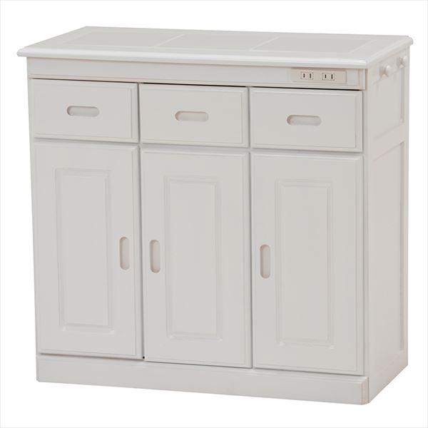 キッチンカウンター MUD-6123WH(代引不可)【送料無料】【storage0901】