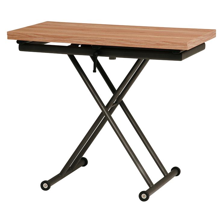 萩原 エクステンション昇降テーブル KT-3195NA テーブル 昇降 拡張 高さ調節(代引不可)【送料無料】