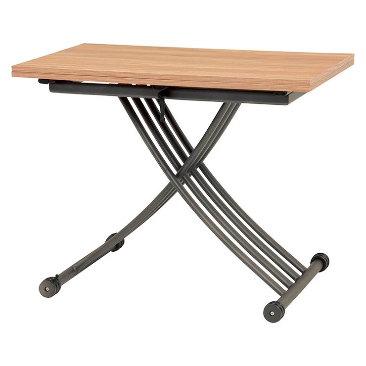 萩原 エクステンション昇降テーブル KT-3196NA テーブル 昇降 拡張 高さ調節(代引不可)【送料無料】