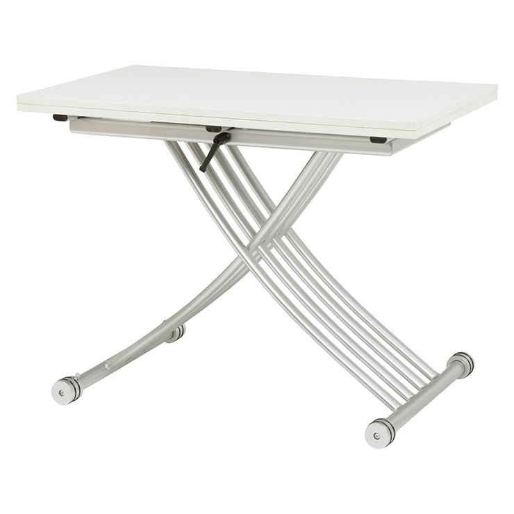 萩原 エクステンション昇降テーブル KT-3196WH テーブル 昇降 拡張 高さ調節(代引不可)【送料無料】
