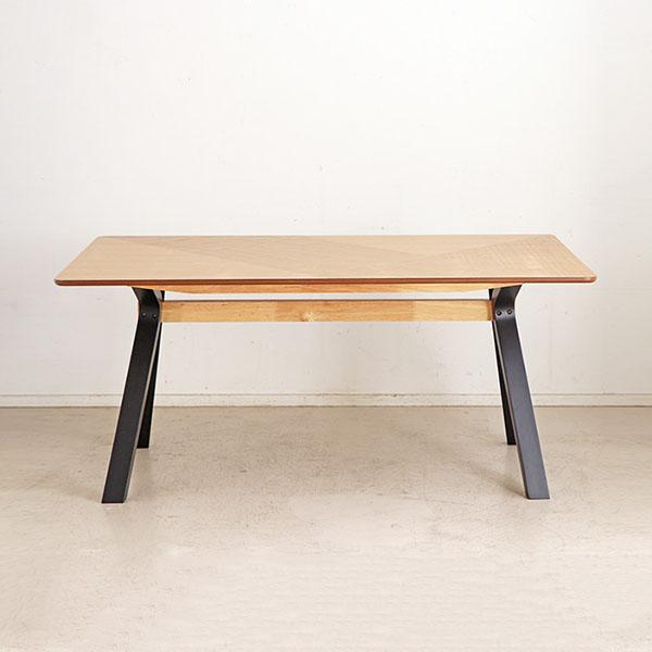 ダイニングテーブル 160 テーブル単品 食卓 テーブル 食卓テーブル 木製 ラバーウッド 木目 モダンデザイン 北欧(代引不可)【送料無料】