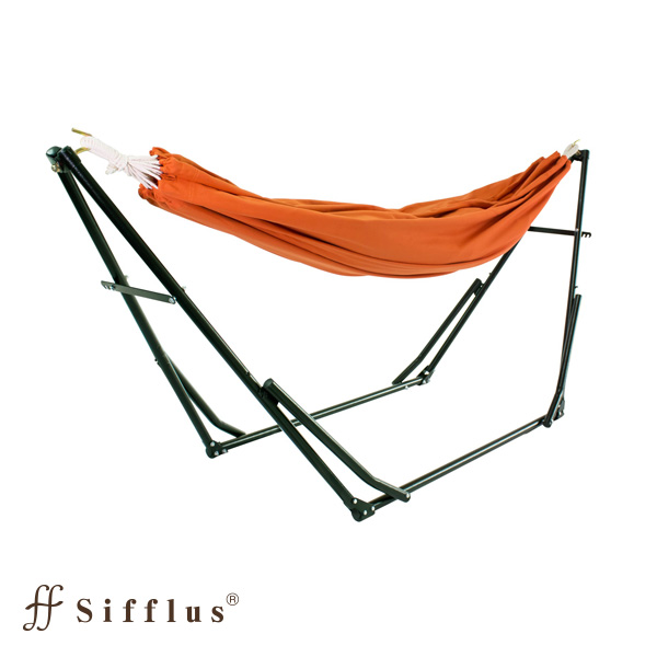 Sifflus 3WAY自立式ポータブルハンモック オレンジ SFF-38-OR 室内ハンモック スタンド付き ハンモック チェアー ハンガーラック(代引不可)【送料無料】