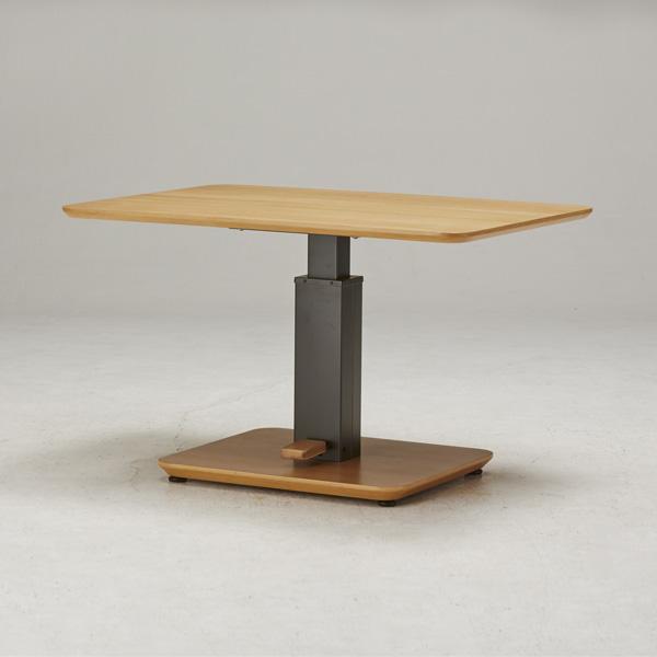テーブル ガス圧昇降式テーブル 105×75cm 日本製 昇降テーブル ダイニングテーブル ローテーブル リビングテーブル デスク(代引不可)【送料無料】