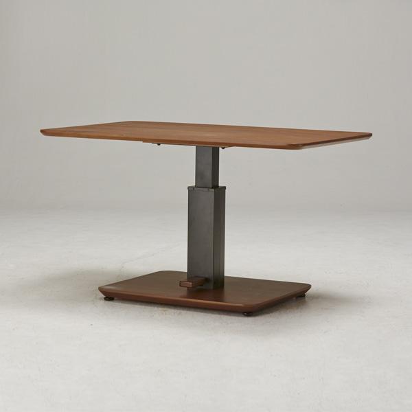 テーブル ガス圧昇降式テーブル 120×80cm 日本製 昇降テーブル ダイニングテーブル ローテーブル リビングテーブル デスク(代引不可)【送料無料】