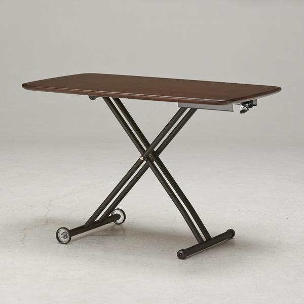 テーブル ガス圧昇降式テーブル 105×65cm 日本製 昇降テーブル ダイニングテーブル ローテーブル リビングテーブル デスク(代引不可)【送料無料】