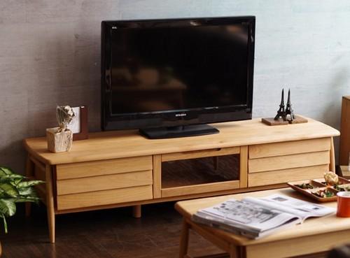 一生紀 テレビボード 幅152cm(ナチュラル)【アルダー無垢材シリーズ家具】(代引き不可)【送料無料】【int_d11】
