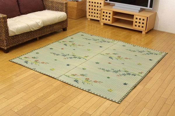 い草花ござカーペット 『嵐山』 本間4.5畳(約286.5x286.5cm)【送料無料】【代引き不可】