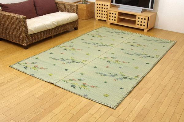 い草花ござカーペット 『嵐山』 江戸間8畳(約348×352cm)【送料無料】【代引き不可】