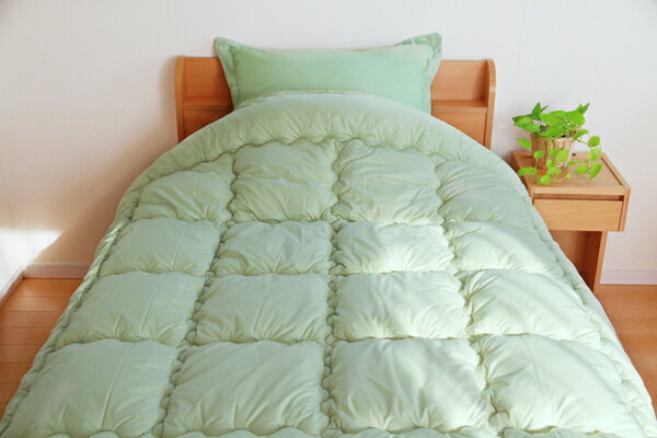 ヒバエッセンス使用 掛け布団 i森の眠り グリーン ダブルロング 190×210cm(代引不可)【送料無料】