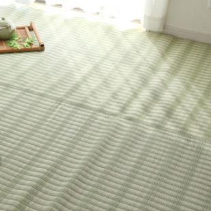 洗える PPカーペット 『雲海ヒバ』 グリーン 江戸間8畳(約348×352cm) 青森ヒバ加工(代引不可)【送料無料】