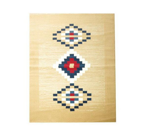 ベルギー製 ウィルトン織り カーペット ロット RUG ベージュ 約240×240cm(代引不可)【送料無料】
