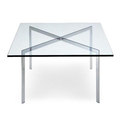 センターテーブル ローテーブル デザイナーズテーブルバルセロナテーブル ミース・ファン・デル・ローエ(代引不可)【送料無料】【int_d11】