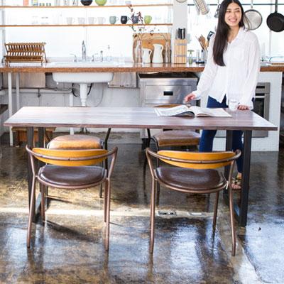 ソリッド ダイニングテーブル Mサイズ 150cm Solid Dining Tableローズウッド 無垢材 TIMELESS CRAFT(代引不可)【送料無料】