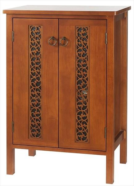 キャビネット OW-560 チェスト 収納棚 ラック シェルフ リビング収納 両開き戸 棚板2枚 木製 おしゃれ かわいい 上品(代引不可)【送料無料】