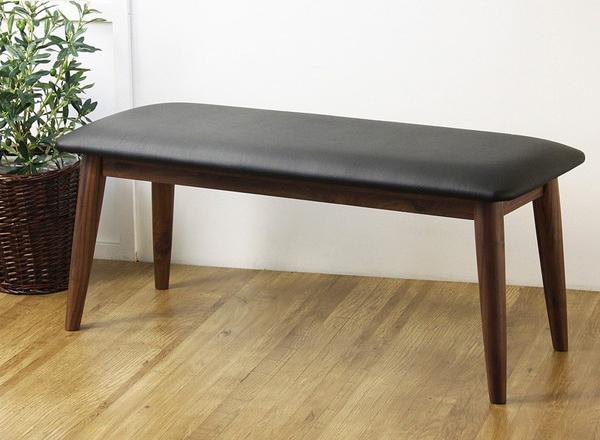 ダイニングベンチ おしゃれな ダイニング ベンチ ベンチチェア 長椅子 イス 木製 無垢 無垢材 天然木 北欧 ウォールナット(代引不可)【送料無料】
