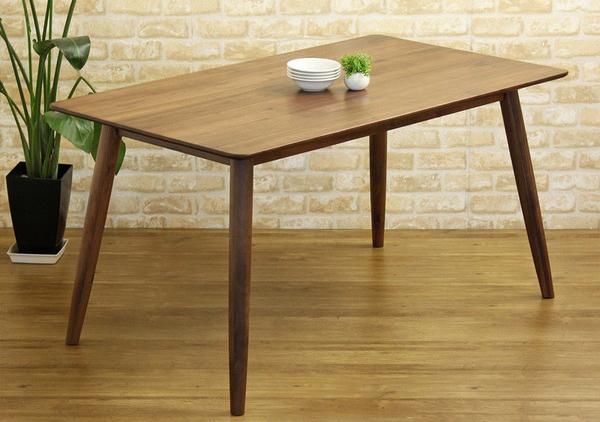 ダイニングテーブル135 おしゃれな ダイニング テーブル 食卓 食卓テーブル 木製 無垢 無垢材 天然木 北欧 ウォールナット(代引不可)【送料無料】