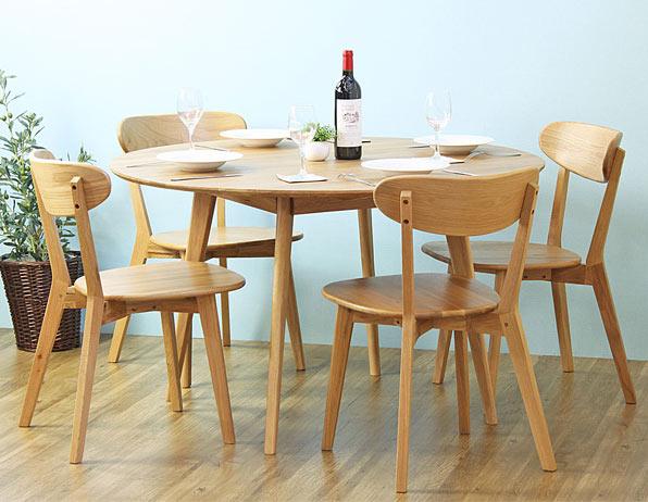 ダイニング丸5点 丸テーブル おしゃれな ダイニング テーブル 食卓 食卓テーブル 円 サークル 丸型 ラウンド(代引不可)【送料無料】