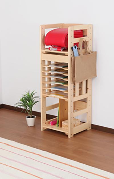 天然木シンプルデザインキッズ家具シリーズ ランドセルラック(代引不可)【送料無料】
