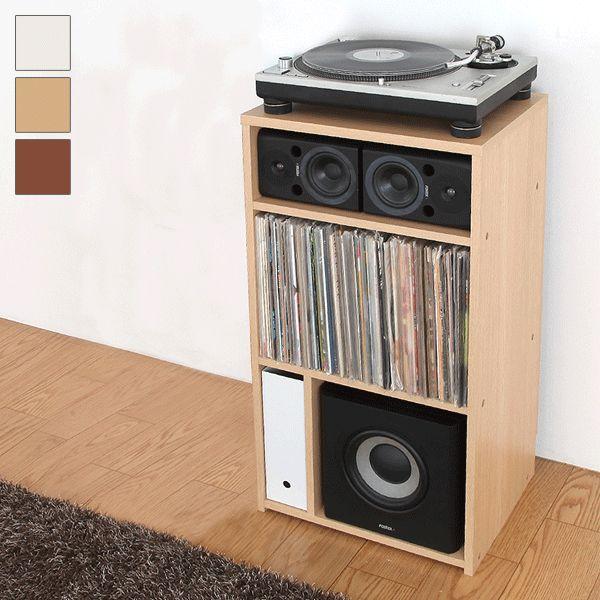 ラック 日本製 収納ラック コレクションラック オープンラック レコードラック オーディオラック オーディオ レコード収納(代引不可)【送料無料】