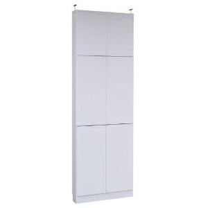 本棚 ラック シェルフ 1cmピッチ 大量収納 MEMORIA 棚板が1cmピッチで可動する 薄型扉付幅81 上置きセット FRM-0101DOORSET(代引不可)【送料無料】