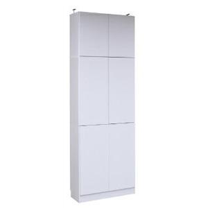 本棚 ラック シェルフ 1cmピッチ 大量収納 MEMORIA 棚板が1cmピッチで可動する 深型扉付幅81 上置きセット FRM-0107DOORSET(代引不可)【送料無料】