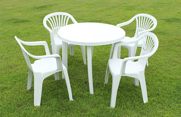 イタリア製 ガーデン 5点セット ガーデンチェア4脚&テーブル テラス バルコニー ロッキングチェア IPAE PROGARDEN社(代引不可)【送料無料】