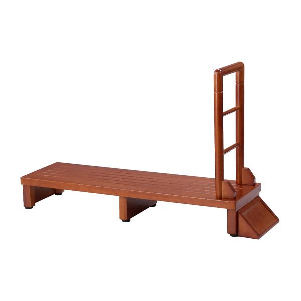 手すり付き玄関台 幅120cm 手すり ステップ 台 玄関 段差 踏み台 木製 昇降 足場(代引不可)【送料無料】