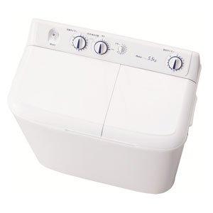 【4時間限定エントリーでポイント10倍 11/1 20:00~23:59】 ハイアール 5.5kg 2槽式洗濯機 ホワイトHaier JW-W55E-W(代引不可)【送料無料】