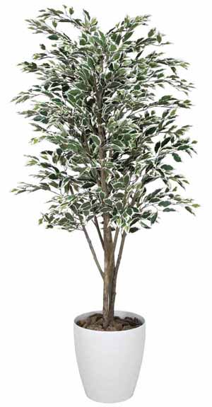 アートグリーン 人工観葉植物 光触媒 光の楽園 ベンジャミンツリー斑入り1.6(代引き不可)【送料無料】