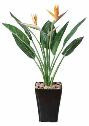 アートグリーン 人工観葉植物 光触媒 光の楽園 ストレチア花付きS1(代引き不可)【送料無料】【S1】