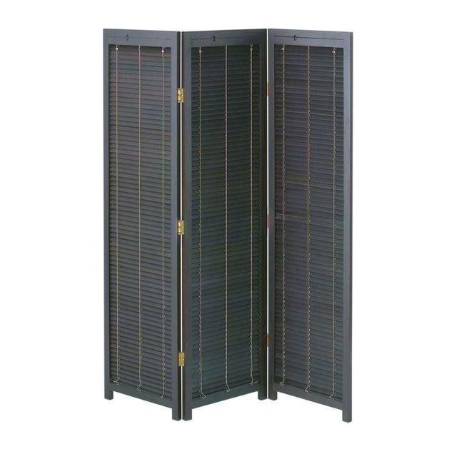 衝立3連 JP-LB3 衝立 3連 ブラインド パーテーション スクリーン 間仕切リ 折り畳み 簡単組立 木製 天然木 リビング 玄関(代引不可)【送料無料】