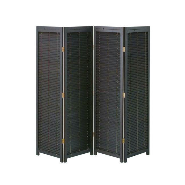 衝立4連 JP-LB4 衝立 4連 ブラインド パーテーション スクリーン 間仕切リ 折り畳み 簡単組立 木製 天然木 リビング 玄関(代引不可)【送料無料】
