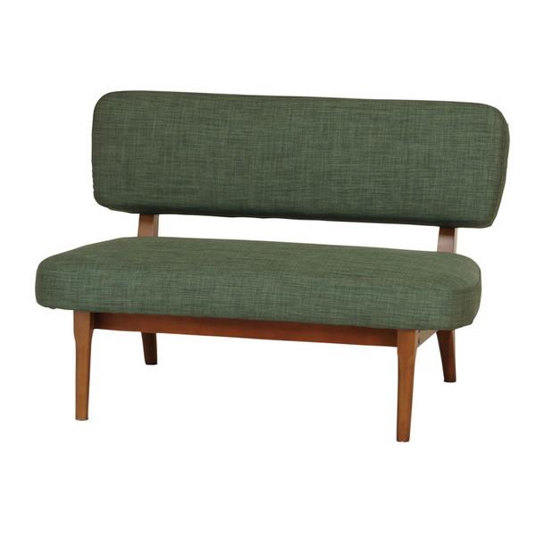 ソファ 2P 二人掛け 幅100cm 木肘 sofa ソファー 木製 アイアン おしゃれ 新生活 かわいい(代引不可)【送料無料】