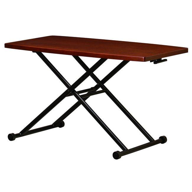 ガス圧リフトテーブル LFT-TK1200 ローテーブル センターテーブル ワークテーブル サブテーブル 木製 タモ材(代引不可)【送料無料】