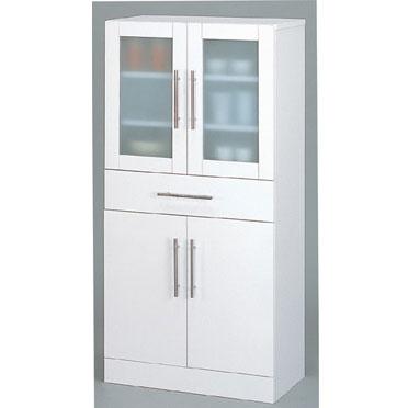 食器棚 ホワイト カトレア・食器棚60-120(代引き不可)【送料無料】