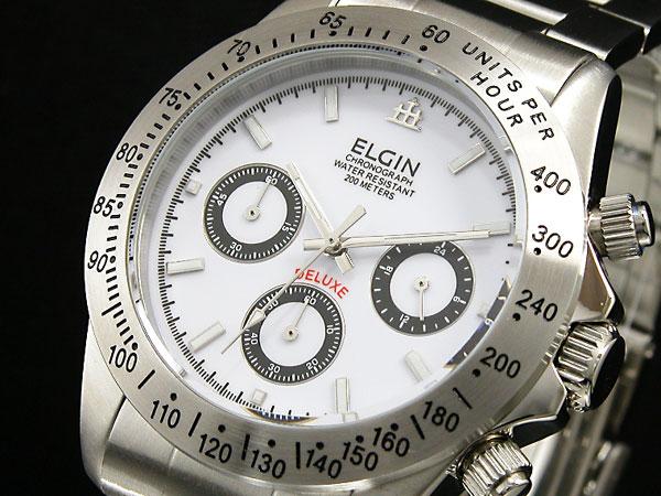 エルジン ELGIN 腕時計 クロノグラフ メンズ FK1059S-W