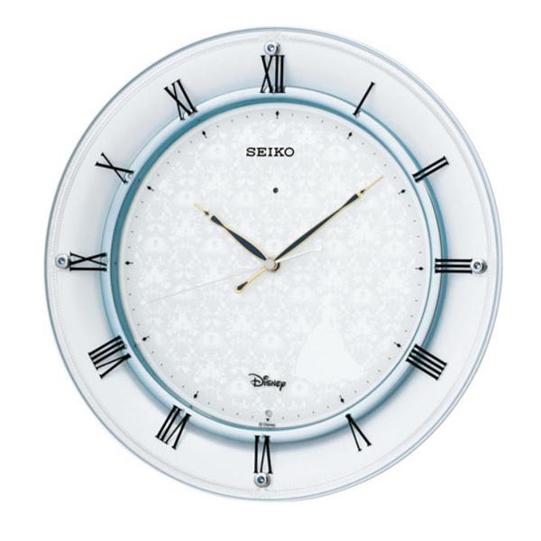 セイコー SEIKO 大人ディズニーシンデレラ 電波 置き時計 FS503W ホワイト