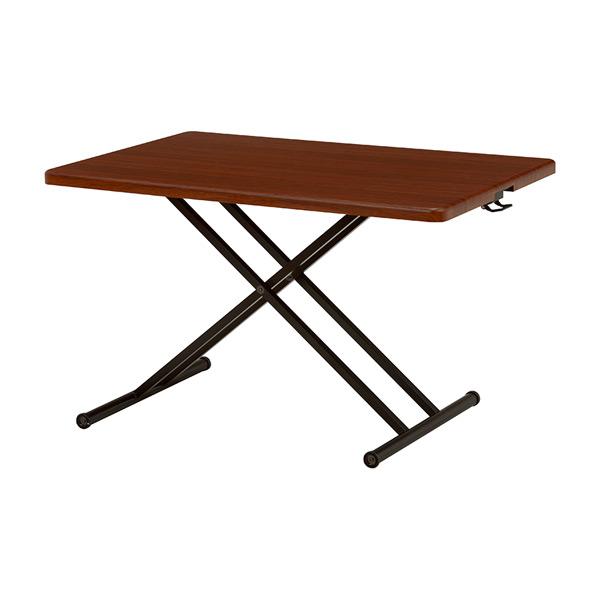 リフティングテーブル 机 KT-3171BR 4934257218450 ブラウン 代引き不可