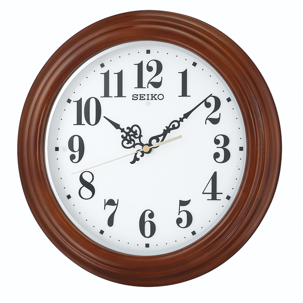 セイコー SEIKO 夜でも見える 掛け時計 KX228B ホワイト