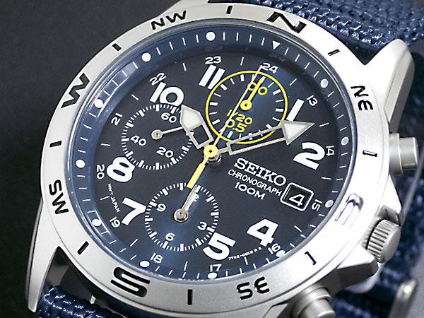 セイコー SEIKO 腕時計 時計 クロノグラフ メンズ SND379R ナイロンベルト【送料無料】