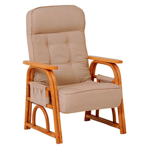 萩原 ギア付き座椅子(ナチュラル) RZ-1255NA 4934257239523 【代引き不可】