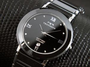 テクノス TECHNOS 腕時計 セラミック メンズ T9120TB