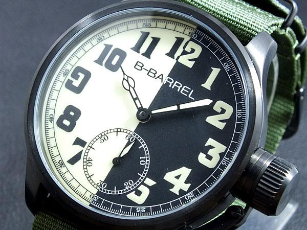 ビーバレル B-BARREL 手巻き式 腕時計 BB0046IPBK-2【送料無料】
