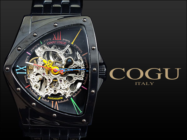 コグ COGU 腕時計 流通限定モデル 自動巻き フルスケルトン BNT-BBCH2