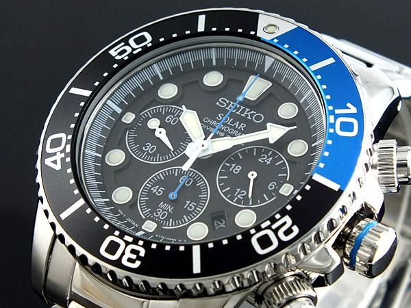 セイコー SEIKO ソーラー クロノグラフ ダイバーズ 腕時計 SSC017P1【送料無料】