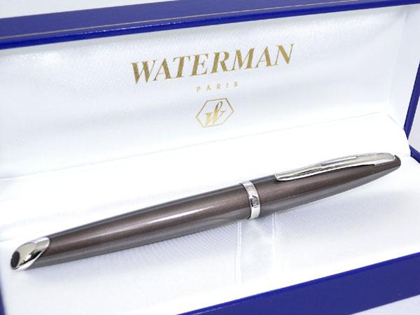 WATERMAN ウォーターマン カレン 万年筆 フロスティーブラウン EF(極細字)